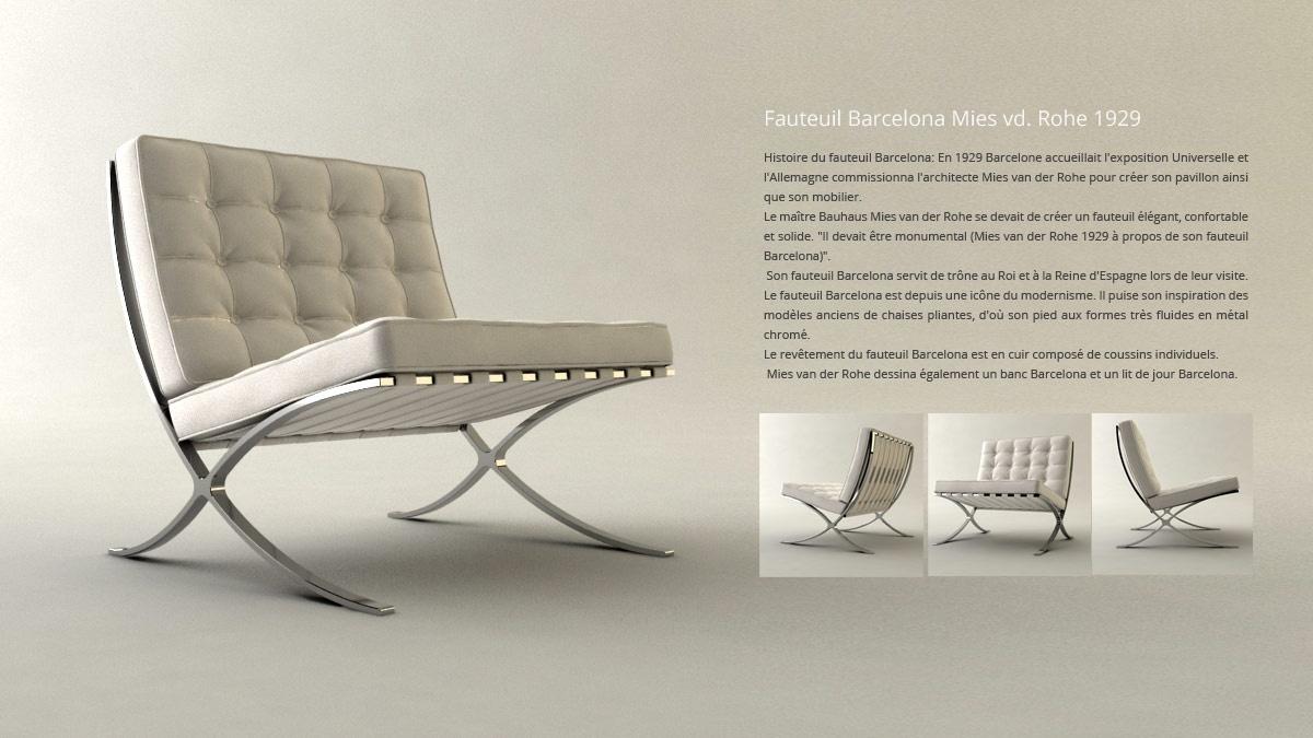 Cr ation 3d mod lisation et animation for Chaise 3d dessin